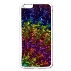 Fractal Art Design Colorful Apple Iphone 6 Plus/6s Plus Enamel White Case