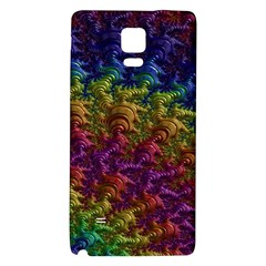 Fractal Art Design Colorful Galaxy Note 4 Back Case
