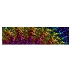 Fractal Art Design Colorful Satin Scarf (oblong)
