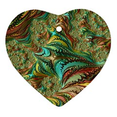 Fractal Artwork Pattern Digital Ornament (Heart)