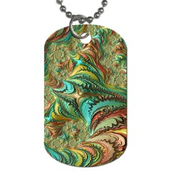 Fractal Artwork Pattern Digital Dog Tag (one Side)