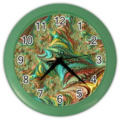 Fractal Artwork Pattern Digital Color Wall Clocks