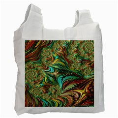 Fractal Artwork Pattern Digital Recycle Bag (One Side)