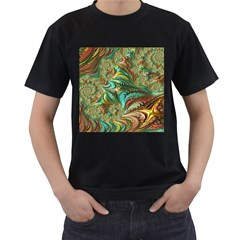 Fractal Artwork Pattern Digital Men s T Shirt (black)