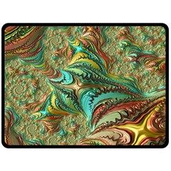 Fractal Artwork Pattern Digital Fleece Blanket (Large)