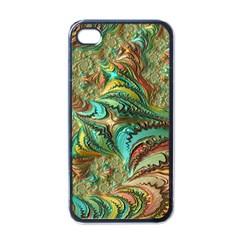Fractal Artwork Pattern Digital Apple iPhone 4 Case (Black)