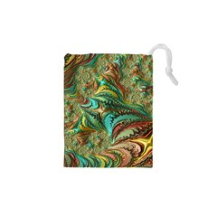 Fractal Artwork Pattern Digital Drawstring Pouches (xs)