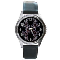 Fractal Complexity Geometric Round Metal Watch