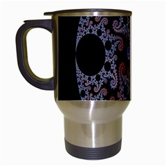 Fractal Complexity Geometric Travel Mugs (White)