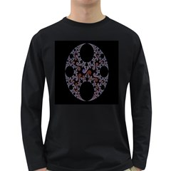 Fractal Complexity Geometric Long Sleeve Dark T-Shirts