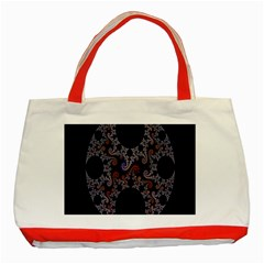 Fractal Complexity Geometric Classic Tote Bag (Red)
