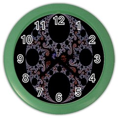 Fractal Complexity Geometric Color Wall Clocks