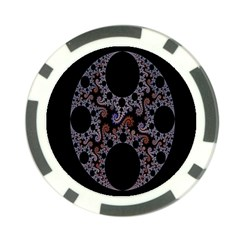 Fractal Complexity Geometric Poker Chip Card Guard
