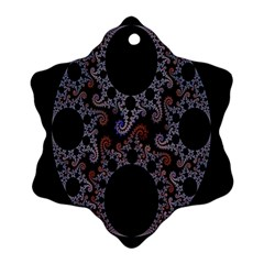 Fractal Complexity Geometric Snowflake Ornament (two Sides)
