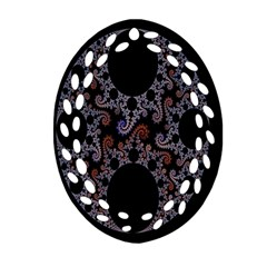 Fractal Complexity Geometric Oval Filigree Ornament (Two Sides)