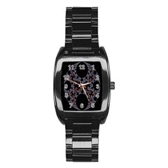 Fractal Complexity Geometric Stainless Steel Barrel Watch