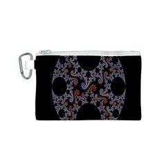Fractal Complexity Geometric Canvas Cosmetic Bag (S)