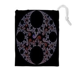 Fractal Complexity Geometric Drawstring Pouches (extra Large)