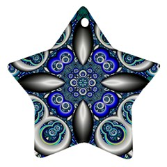 Fractal Cathedral Pattern Mosaic Ornament (Star)