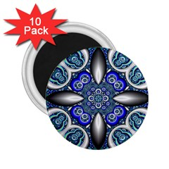 Fractal Cathedral Pattern Mosaic 2.25  Magnets (10 pack)