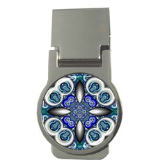 Fractal Cathedral Pattern Mosaic Money Clips (Round)