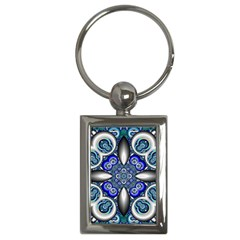 Fractal Cathedral Pattern Mosaic Key Chains (Rectangle)