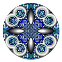 Fractal Cathedral Pattern Mosaic Magnet 5  (round)