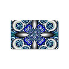 Fractal Cathedral Pattern Mosaic Magnet (Name Card)