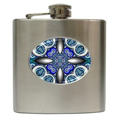 Fractal Cathedral Pattern Mosaic Hip Flask (6 oz)