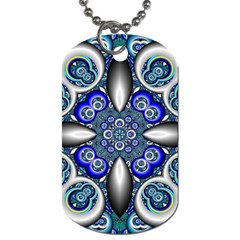 Fractal Cathedral Pattern Mosaic Dog Tag (Two Sides)
