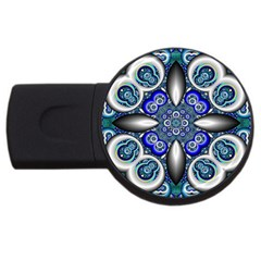 Fractal Cathedral Pattern Mosaic USB Flash Drive Round (1 GB)