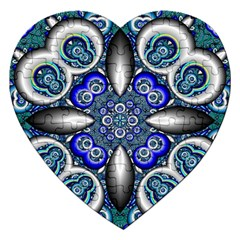 Fractal Cathedral Pattern Mosaic Jigsaw Puzzle (Heart)