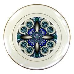 Fractal Cathedral Pattern Mosaic Porcelain Plates
