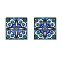 Fractal Cathedral Pattern Mosaic Cufflinks (Square)