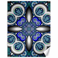 Fractal Cathedral Pattern Mosaic Canvas 18  X 24