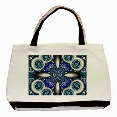 Fractal Cathedral Pattern Mosaic Basic Tote Bag (Two Sides)