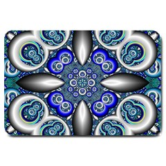 Fractal Cathedral Pattern Mosaic Large Doormat