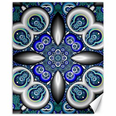 Fractal Cathedral Pattern Mosaic Canvas 11  x 14