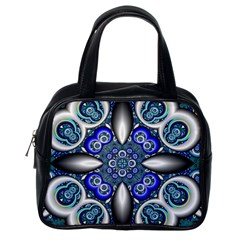 Fractal Cathedral Pattern Mosaic Classic Handbags (one Side)