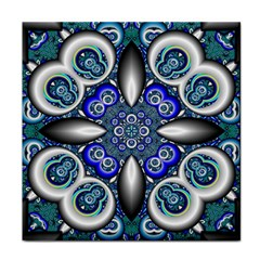 Fractal Cathedral Pattern Mosaic Face Towel