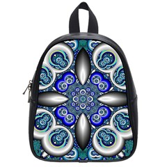 Fractal Cathedral Pattern Mosaic School Bags (Small)