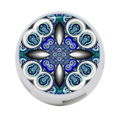 Fractal Cathedral Pattern Mosaic 4 Port Usb Hub (two Sides)
