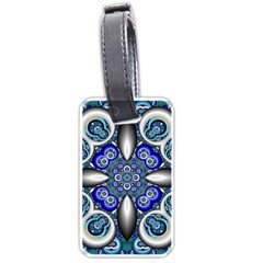Fractal Cathedral Pattern Mosaic Luggage Tags (One Side)