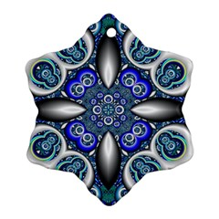 Fractal Cathedral Pattern Mosaic Ornament (snowflake)