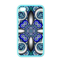 Fractal Cathedral Pattern Mosaic Apple iPhone 4 Case (Color)