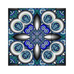 Fractal Cathedral Pattern Mosaic Acrylic Tangram Puzzle (6  X 6 )