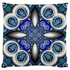 Fractal Cathedral Pattern Mosaic Large Cushion Case (One Side)