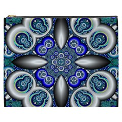Fractal Cathedral Pattern Mosaic Cosmetic Bag (XXXL)