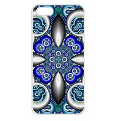 Fractal Cathedral Pattern Mosaic Apple Iphone 5 Seamless Case (white)