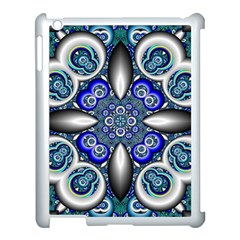 Fractal Cathedral Pattern Mosaic Apple iPad 3/4 Case (White)
